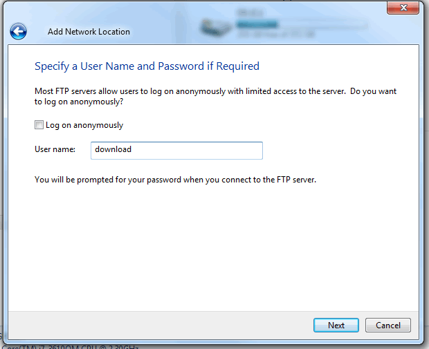 FTP windows7c